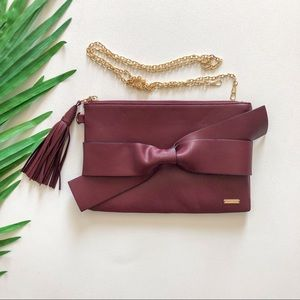 CHARLIE PAIGE LEATHER BOW CROSSBODY BAG